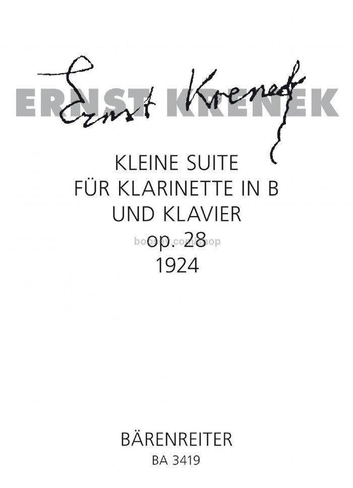 KleineSuiteop.28(1924)para clarinete y piano. Ernst Krenek