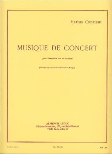 MusiquedeConcert(1954). Marius Constant