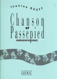 ChansonetPassepiedop.16(1951)para saxofón alto y piano. Jeanine Rueff