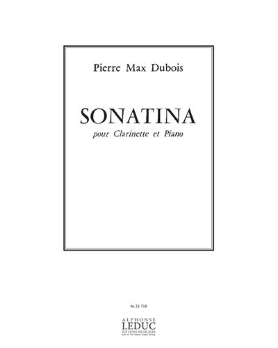 Sonatina(1956)para clarinete y piano. PierreMax Dubois