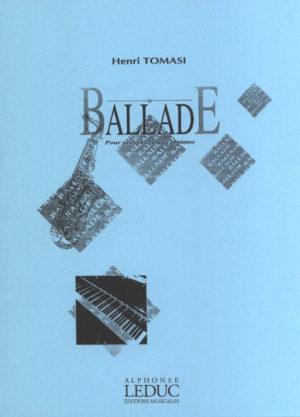 Ballade(1939)para saxofón alto y piano.Henri Tomasi