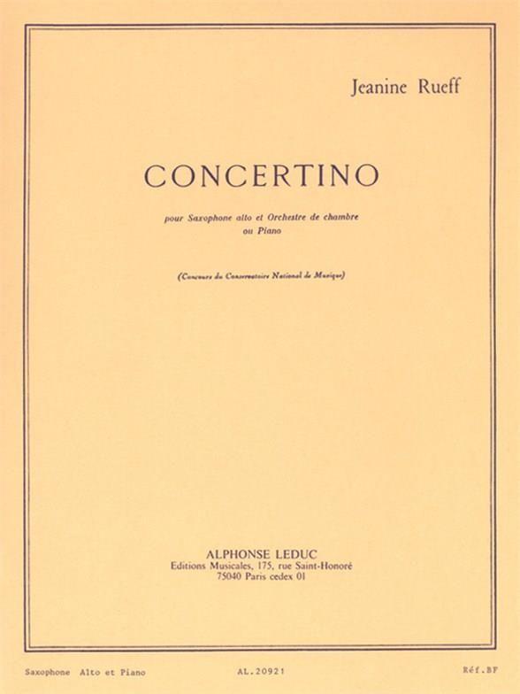 Concertinoop.17(1951/53)para saxofón alto y piano.Jeanine Rueff