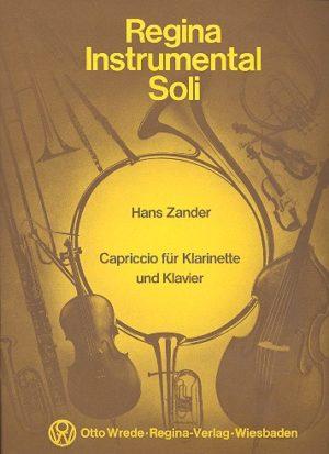 Capriccio(1966)para clarinete y piano. Hans Zander