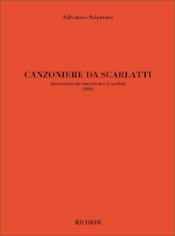 CanzoniereDaScarlatti(1998) para saxofón. Salvatore Sciarrino
