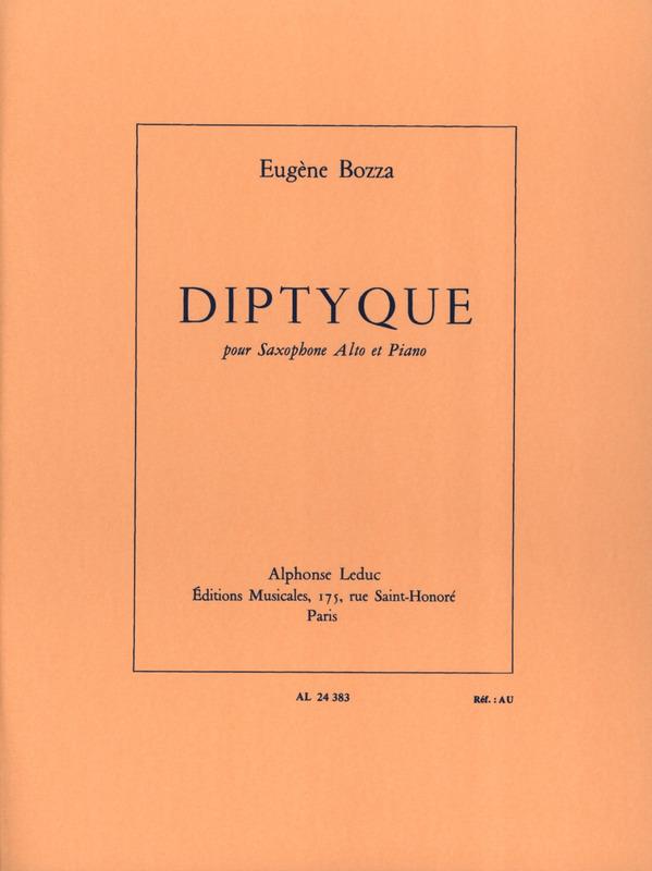Diptyque(1970)para saxofón alto y piano. Eugene Bozza