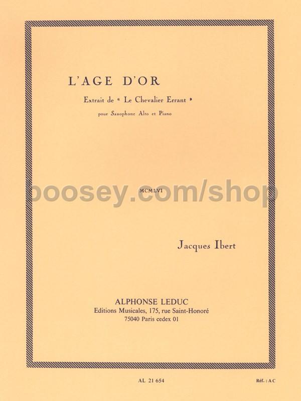 L'Aged'Or(1956).Auszugaus'LeChevalierErrant'para saxofón alto. Jacques Ibert