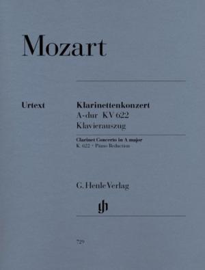 KonzertinA-DurKV622para clarinete en Sib y piano. WolfgangAmadeus Mozart
