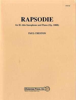 Rapsodieop.108b(1976)para saxofón alto y piano. Paul Creston