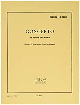 Concerto(1949)para saxofón alto y piano. Henri Tomasi