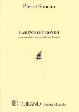 LamentoetRondo(1973)para saxofón alto y piano. Pierre Sancan