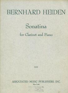 Sonatina(1957)para clarinete y piano.Bernhard Heiden