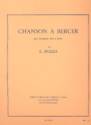 ChansonaBercer(1964)para saxofón alto y piano.Eugene Bozza