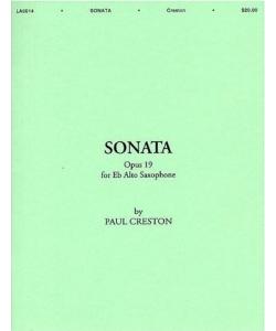 Sonataop.19(1939) para saxofón alto y piano. Paul Creston
