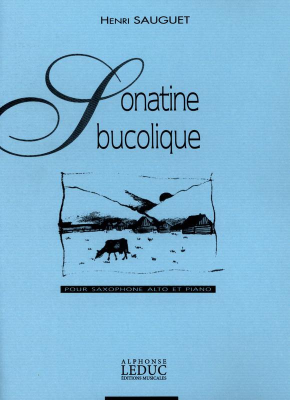 SonatineBucolique(1964) para saxofón alto y piano. Henry Sauguet