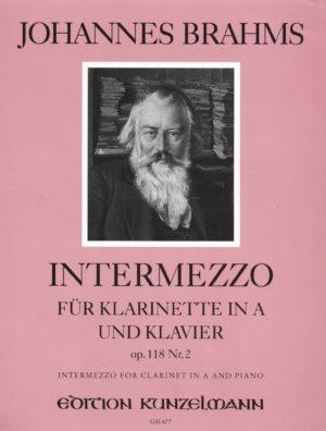 Intermezzoop.118No.2para clarinete y piano. JohannesBrahms