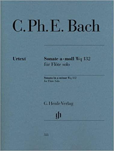 Sonate in a-moll Wp 132 para flauta solo. Carl Philipp Emanuel Bach