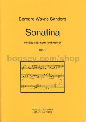 Sonatina(1991)para clarinete bajo y piano. BernardWayne Sanders