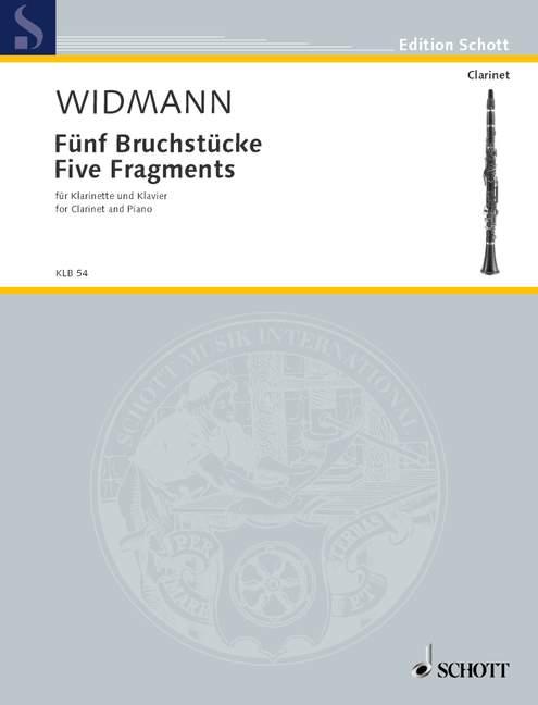 FünfBruchstücke(1997)para clarinete y piano.Jörg Widmann