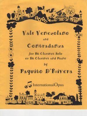 ValsVenezolanoandContradanzapara clarinete y piano. Paquitod'Rivera