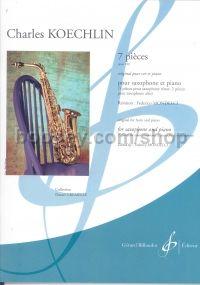 7Piecesop.180para saxofón alto y tenor y piano. Charles Koechlin