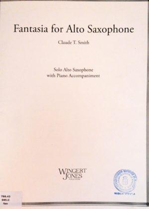 Fantasia(1983)para saxofón alto y piano. ClaudeThomas Smith