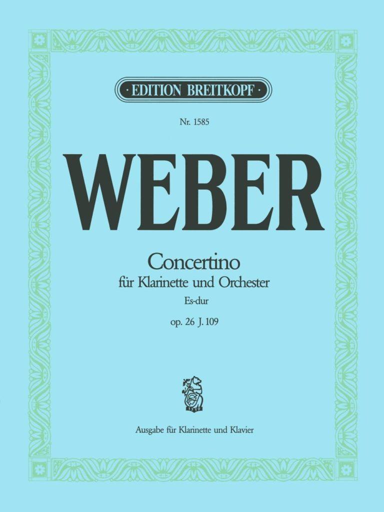 ConcertinoinEs-Durop.26 para clarinete y orquesta. CarlMariavonWeber