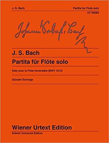 Partita in a-moll BMW 1013 para flauta sola. Johann Sebastian Bach
