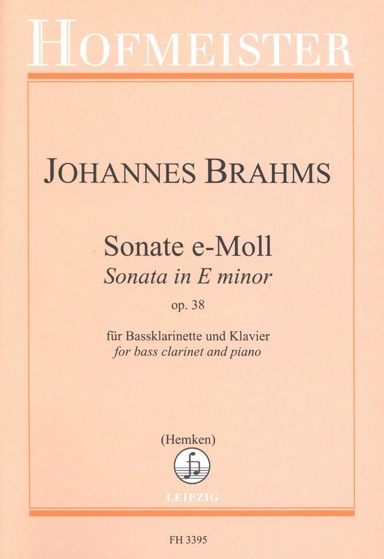Sonateine-mollop.38para clarinete bajo y piano. JohannesBrahms