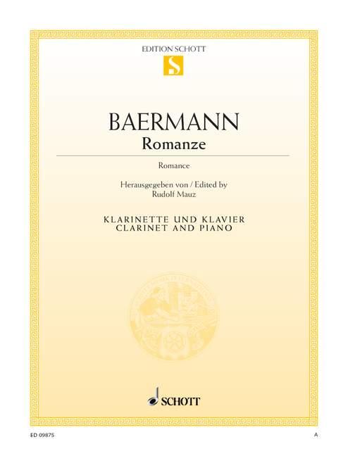 Romanzepara clarinete y piano. CarlBaermann