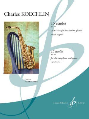 15Etudesop.188(1942/44)para saxofón alto y piano. CharlesKoechlin