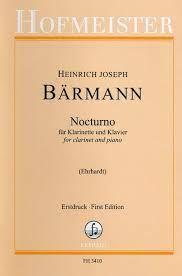 Nocturnopara clarinete y piano. HeinrichJosephBaermann