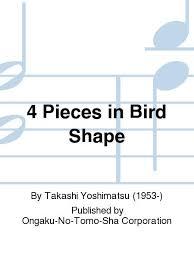 4PiecesinBirdShapeop.18(1983)Takashi Yoshimatsu