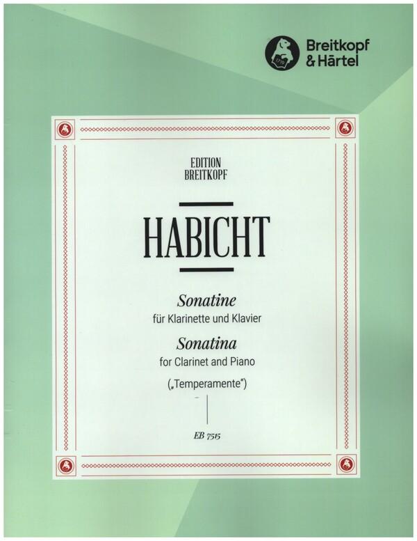 Sonatine(1969) para clarinete y piano. Günter Habicht
