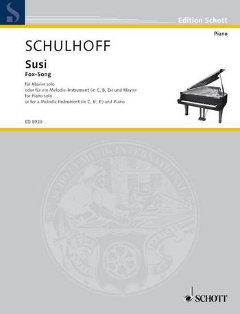 Susi(1937).para clarinete (flauta, saxofón alto) y piano. Erwin Schulhoff