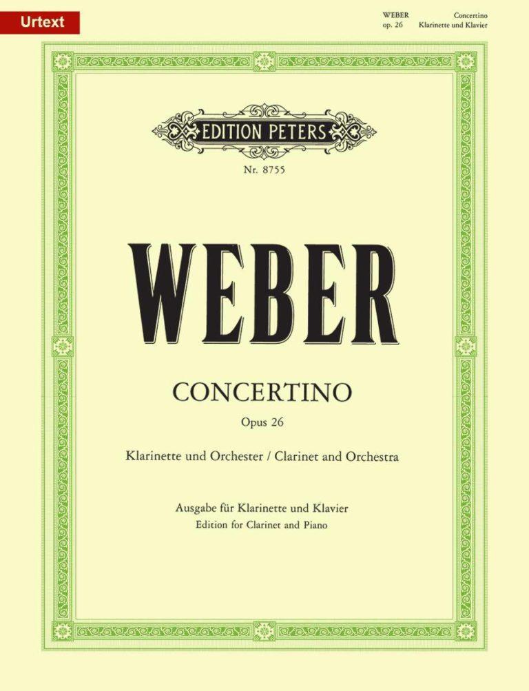 ConcertinoinEs-Durop.26 para clarinete y piano. CarlMariavonWeber