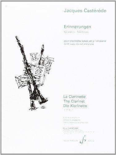 Erinnerungen(2006)para clarinete bajo y piano. Jacques Casterede