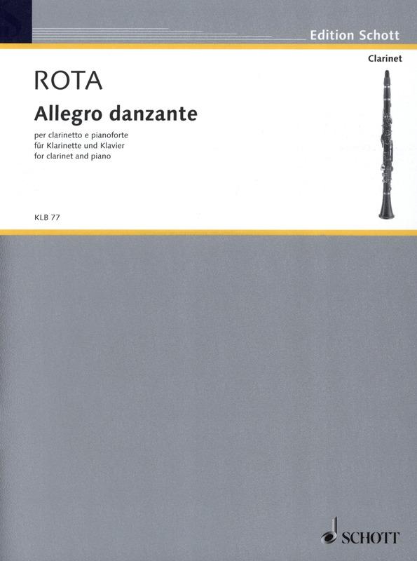 Allegrodanzante(1977)para clarinete y piano. Nino Rota