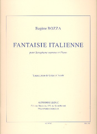 FantaisieItaliennepara saxofón soprano. EugeneBozza