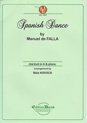 SpanishDancepara clarinete en La y piano. ManueldeFalla