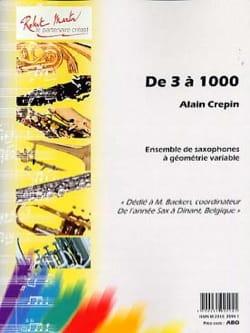 DE3A1000....(1994)para saxofón. Alain Crepin