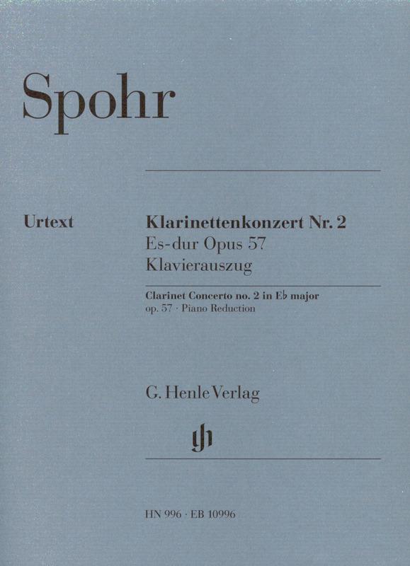 KonzertNo.2inEs-Durop.57(1822) para clarinete y piano. Louis Spohr
