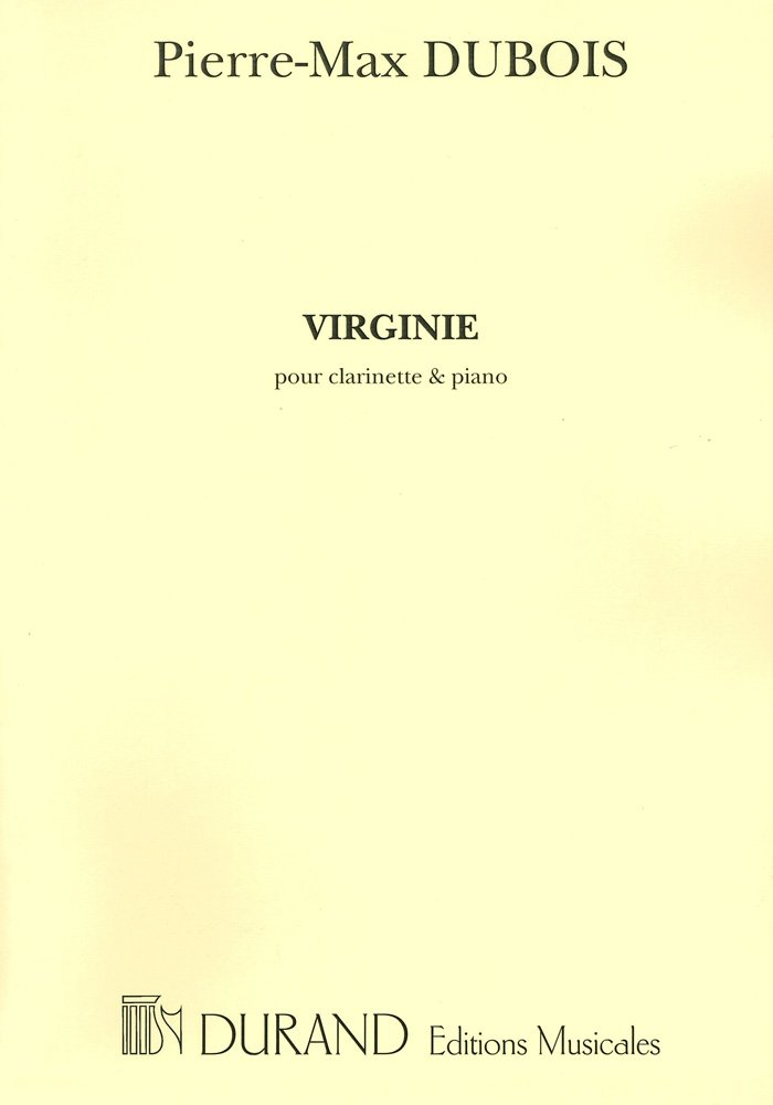 Virginie(1969)para clarinete y piano. PierreMax Dubois