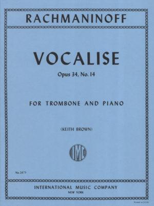 Vocaliseop.34No.14 para saxofón barítono y piano. SergeiRachmaninoff