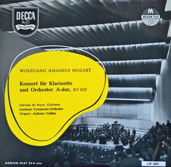 KonzertinA-DurKV622para clarinete o clarinete Basset y piano. WolfgangAmadeus Mozart