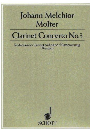 KonzertNo.3para clarinete. JohannMelchiorMolter