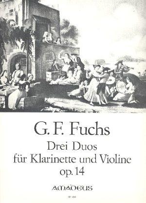 DreiDuosop.14para clarinete y violín. GeorgFriedrichFuchs