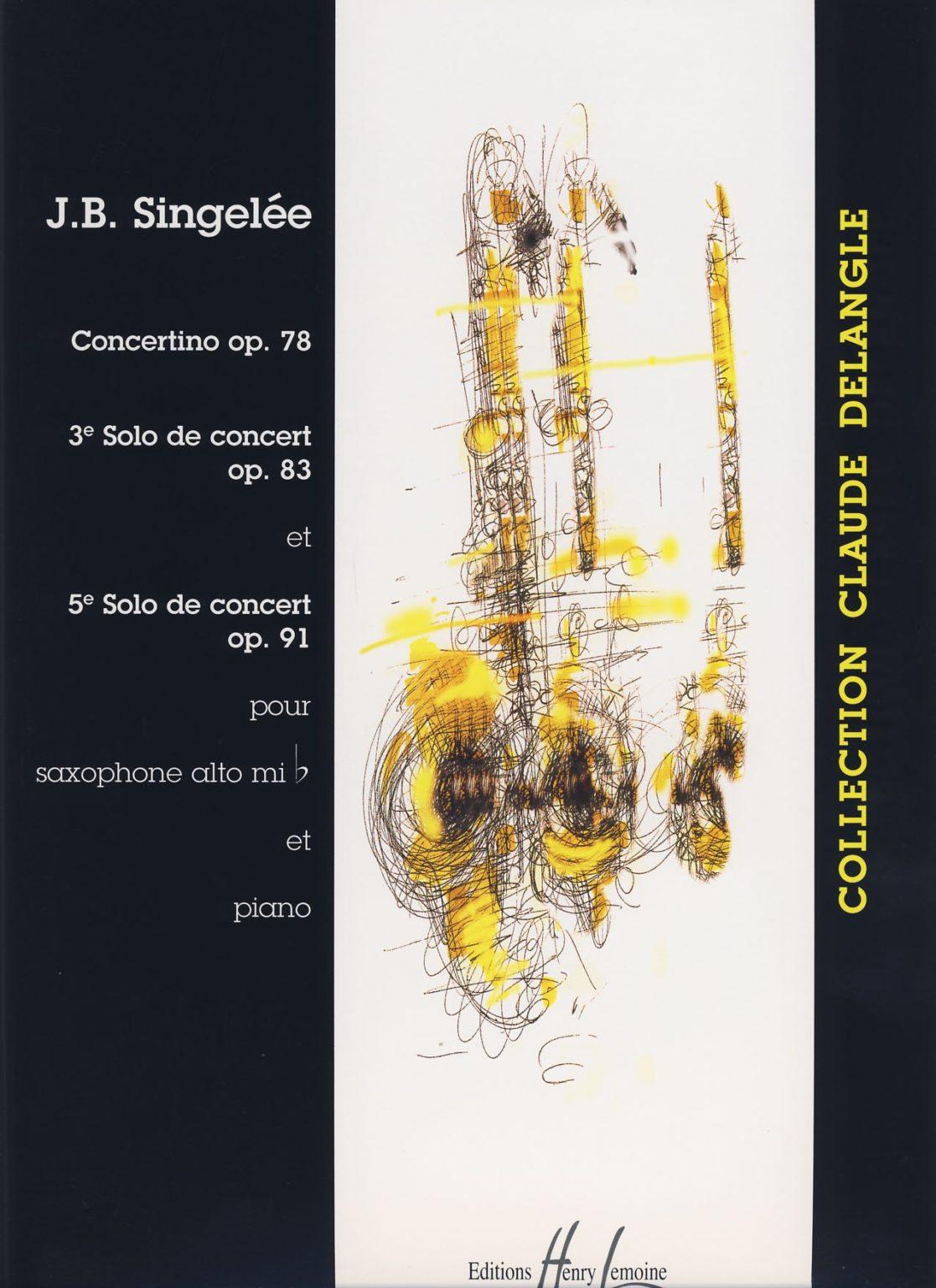 SolodeConcertop.83 para saxofón tenor y piano. Jean-BaptisteSingelee