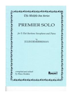 PremierSolo,AndanteetBolero(1866)para saxofón tenor y piano. JulesDemersseman