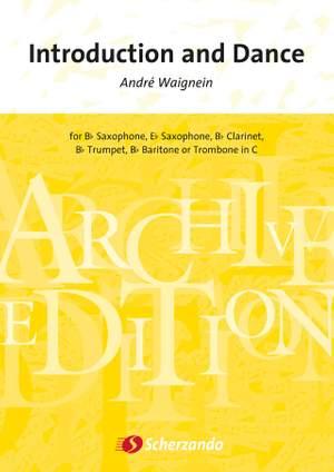 IntroductionandDancepara clarinete y saxofón en Sib o Mib. Andre Waignein