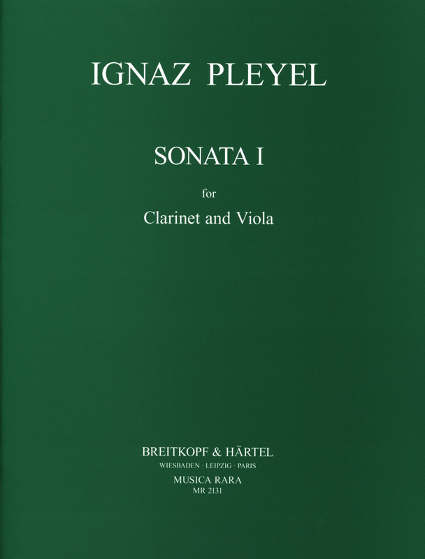 SonataIpara clarinete y viola. IgnazPleyel